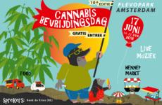 Cannabis in het zonnetje op protestival