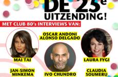 Luister terug: De 25e uitzending van Club 80's (met interviews van o.a. Mai Tai & Laura Fygi)