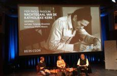 Floris Meens Yolanda Bloemen Ben van Melick Pasolini presentatie uitg Huis Clos De Balie 29 april 2017. Foto: Robert van Altena